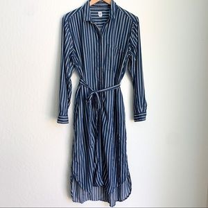 Gap Striped Long Shirt Dress